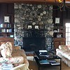 Stone art fireplace at the Inn