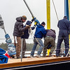 The jib stay reattached