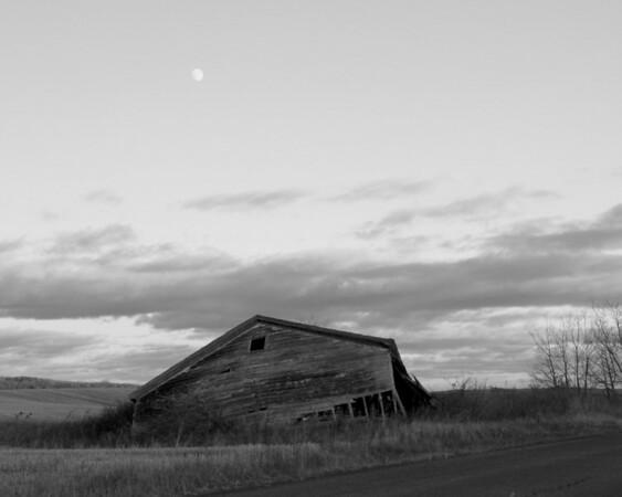 Fallen - St. Agatha, Maine - Black and White Version