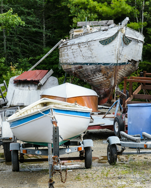 Boat builders back yards of are always filled with interesting stuff.
