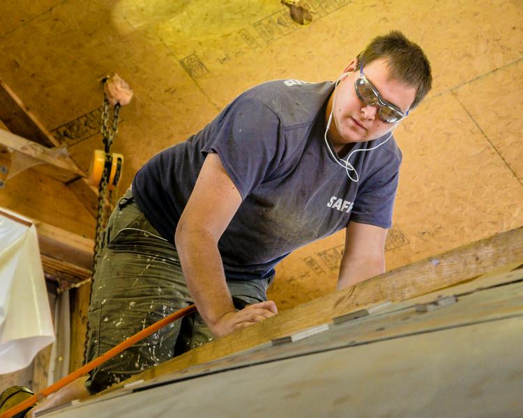 Restoration involves sanding, sanding and more sanding.