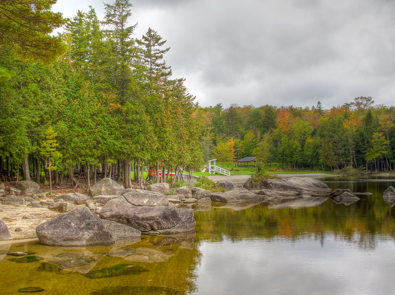 Peaks-Kenny State Park on Sebec Lake: The end of summer.