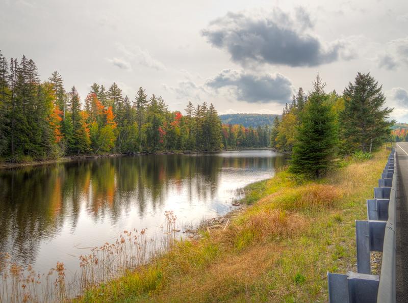 A fall roadside attraction at Brassua Lake.