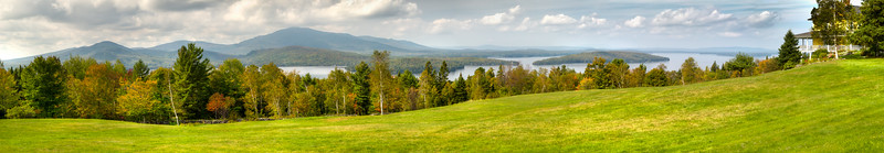View of Moosehead Lake in Greenville, Maine from Blair Hill on the Lily Bay Road.