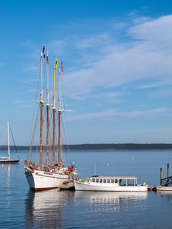 The Margaret Todd at dock in Bar Harbor, Maine.