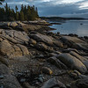 Last sunlight on the rocks at Sand Beach Park.  A few seconds later the sun was behind clouds.