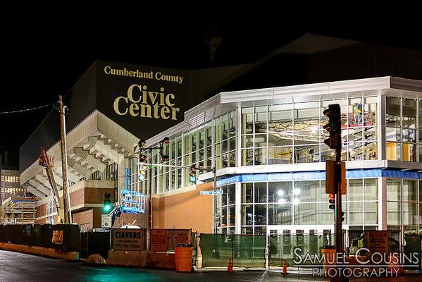 Construction on the Civic Center continues. This side is starting to look quite complete.