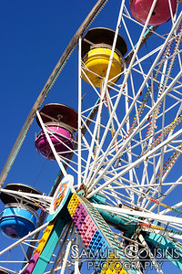 """The 'Portland Eye"""" - a ferris wheel set up on the waterfront (in DiMillo's lot) for the Old Port Festival weekend."""