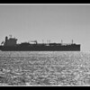 Cargo Ship coming into port from Fort Foster
