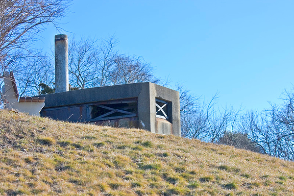 Air vent shaft at Fort Foster
