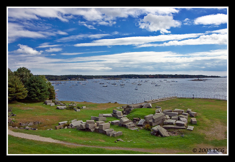 Portsmouth Harbor from Fort McClary Maine