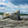 Layered sedimentary rock