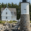 Isle au Haut Lighthouse; the Keepers House is a B&B.  Half of Isle au Haut is within Acadia National Park