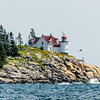 Heron Neck Light, on the southern coast of Vinalhaven, open to the ocean.