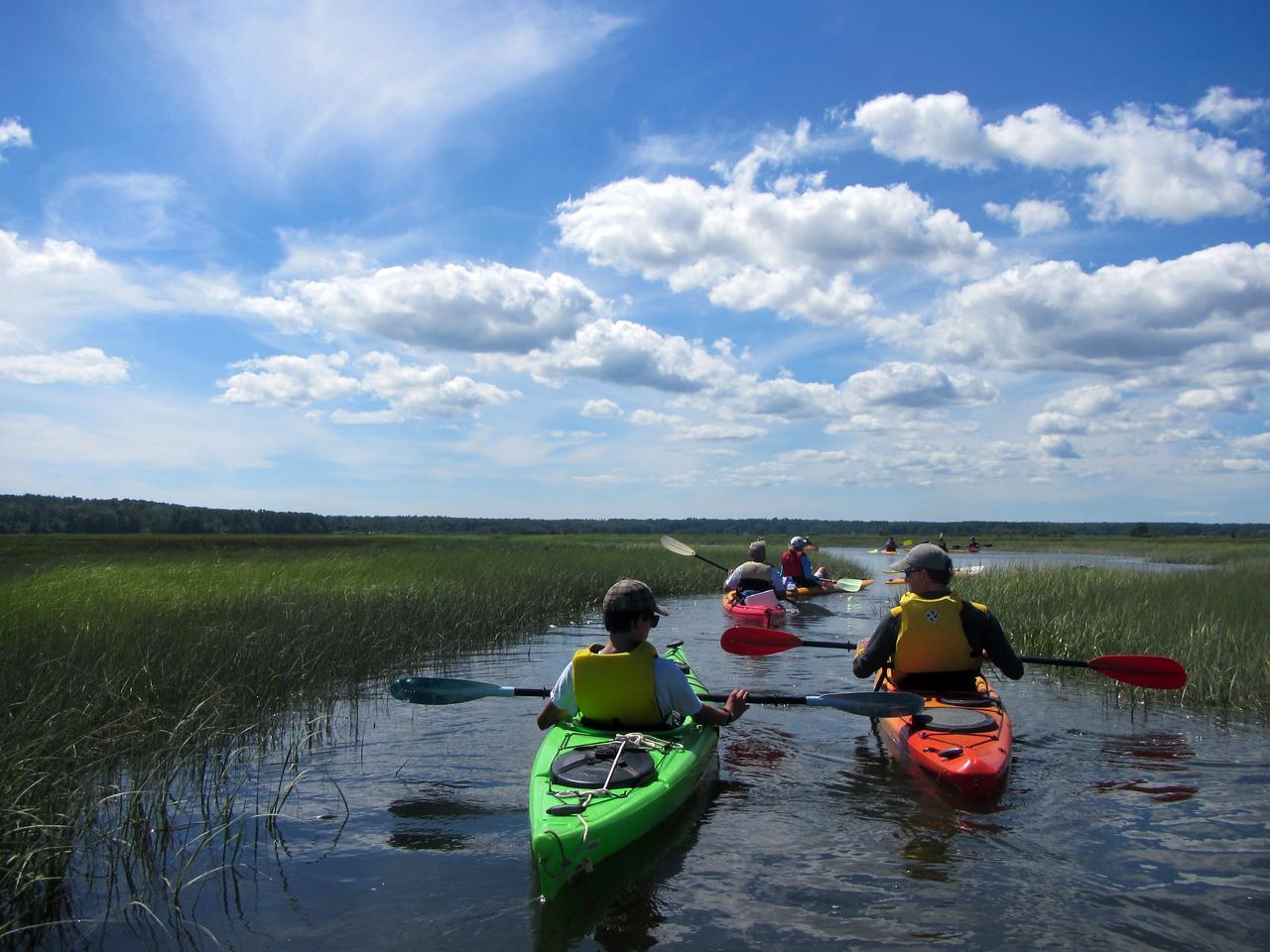 kayaks clouds 3415