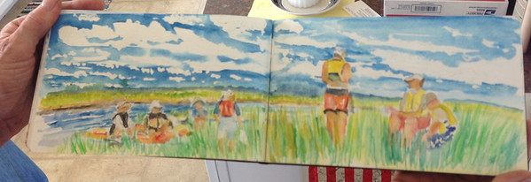 lunch in the grass • watercolor by Tina Devoe_6065