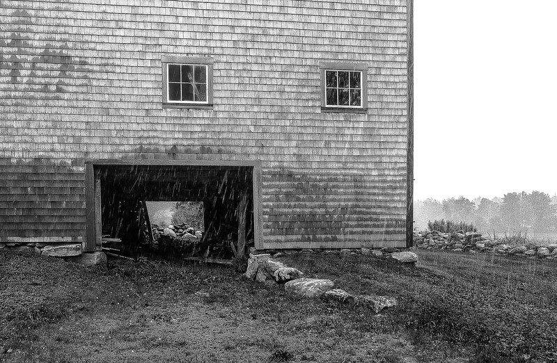 Barn in the Rain
