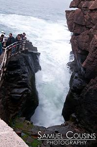 Thunder Hole in Acadia National Park, near Bar Harbor, Maine.