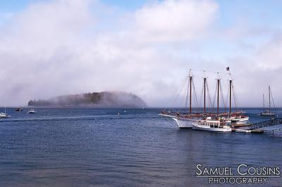 The schooner, Margaret Todd, docked at Bar Harbor.