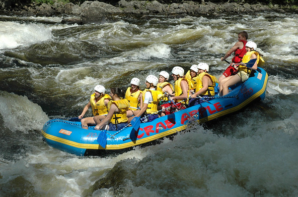 Maine Vacation - White Water Rafting - Kennebec River
