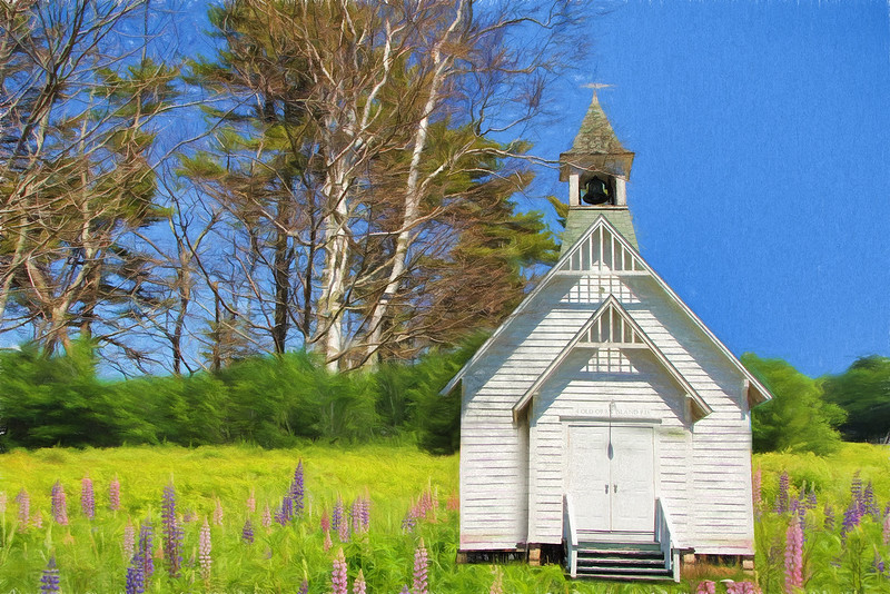 Little Church in the Lupines