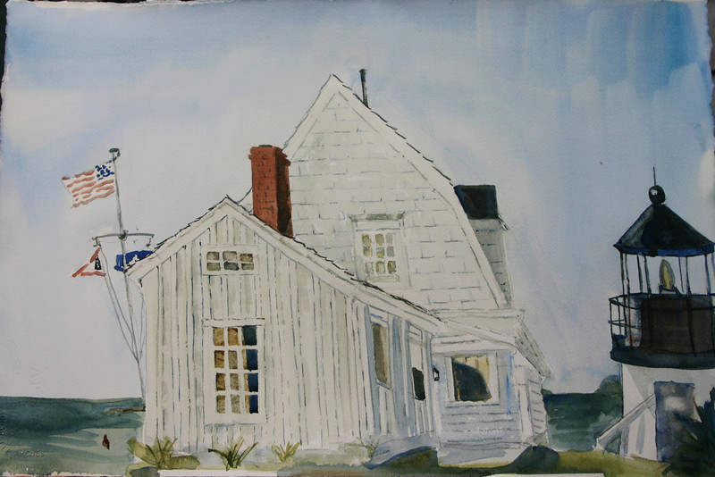 """Light Keepers House At Marshall Point<br /> 15"""" x 22"""" Price:$450. Unframed"""