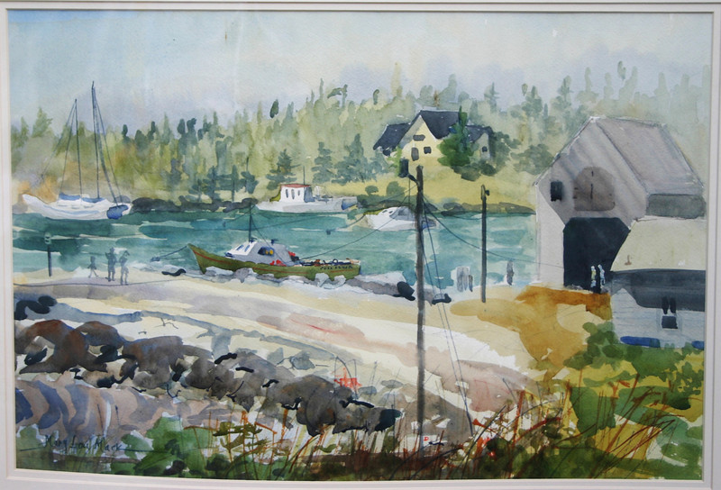 """Cove At Port Clyde, Maine<br /> 15"""" x 22"""" Price: $300. Unframed"""