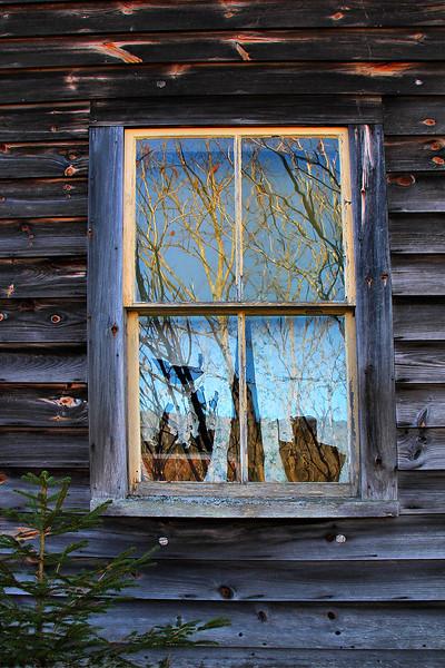 Abandoned Farmhouse Window
