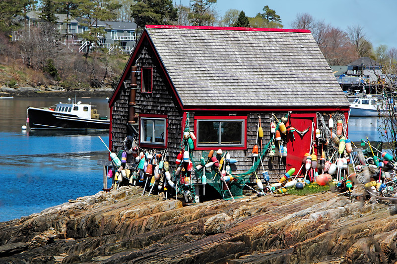 Mackeral Cove Lobster Shack with Boats