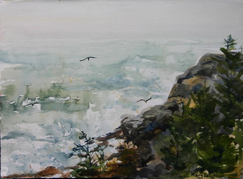 "Gull Rock - Mongehan Island<br /> 11"" x 15"" NFS<br /> Prints Available"