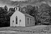 South Solon Meeting House b/w