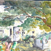 """House In The Woods - Tenant's Harbor, Maine<br /> 15"""" x 22"""" Price: $250. Unframed"""