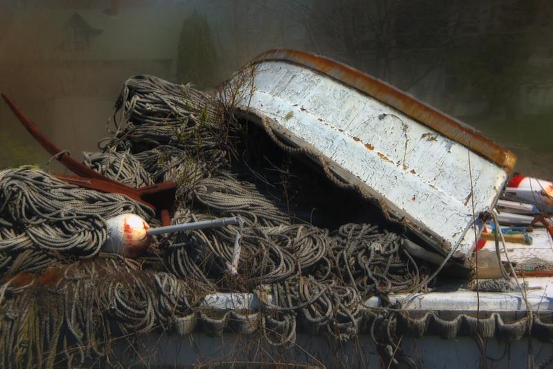 Foggy Fishing Boat