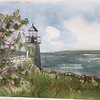 Marshall Point Lighthouse with Appleblossoms