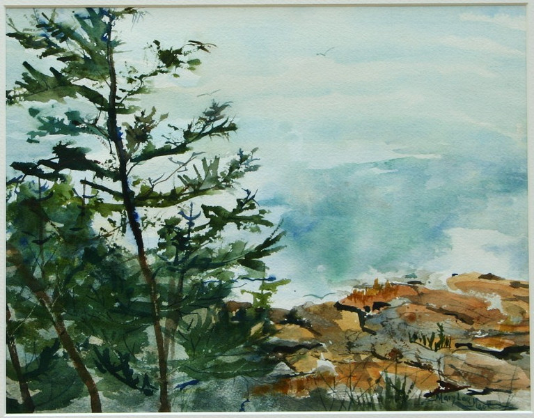 "Monhegan Island Cliff View<br /> 11"" x 15"" Price: $300. Unframed"