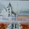 """A Foggy Moring In Port Clyde<br /> 15"""" x 22""""<br /> Price: $200. Unframed"""