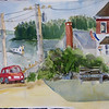"""View From Rose Cottage - Port Clyde, Maine<br /> 11"""" x 15"""" Price: $150. Unframed"""