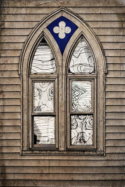 Harpswell Window Reflections ( Textured)