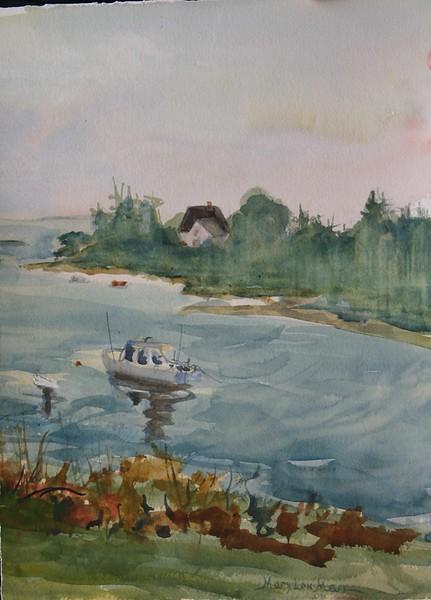 "Port Clyde Inlet<br /> 15"" x 11"" Price: $175 Unframed"
