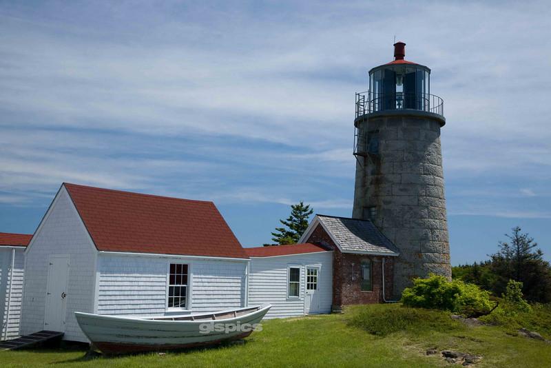 Monhegan Island Lighthouse, Maine Horizontal