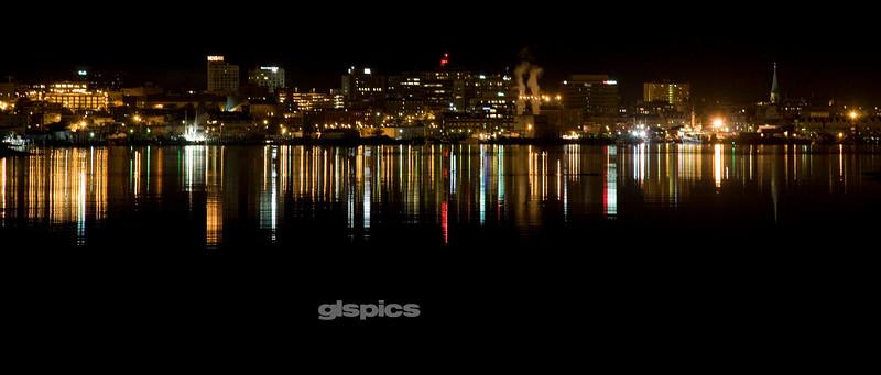 Portland, Maine Skyline at Night