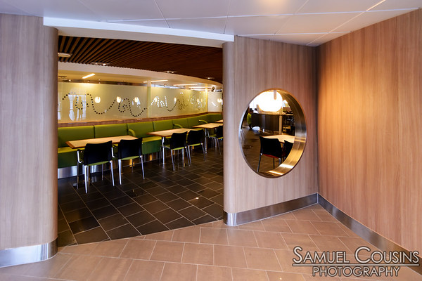 The entrance to a restaurant space on the Nova Star.