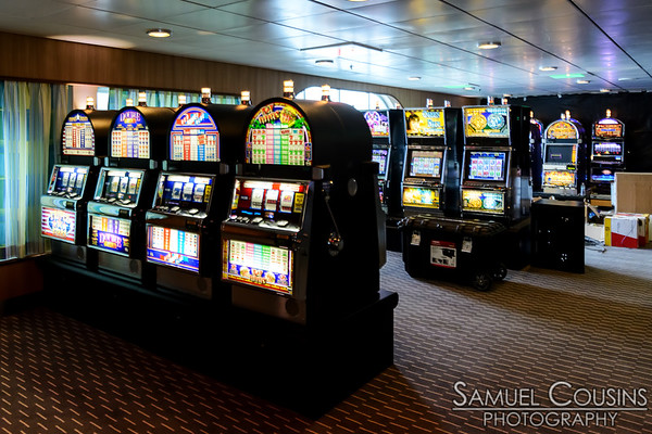 Slot machines in the Nova Star's casino.