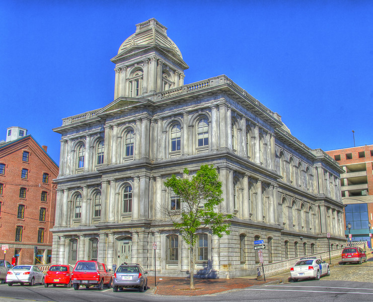 The Custom House Commercial street Portland Maine.