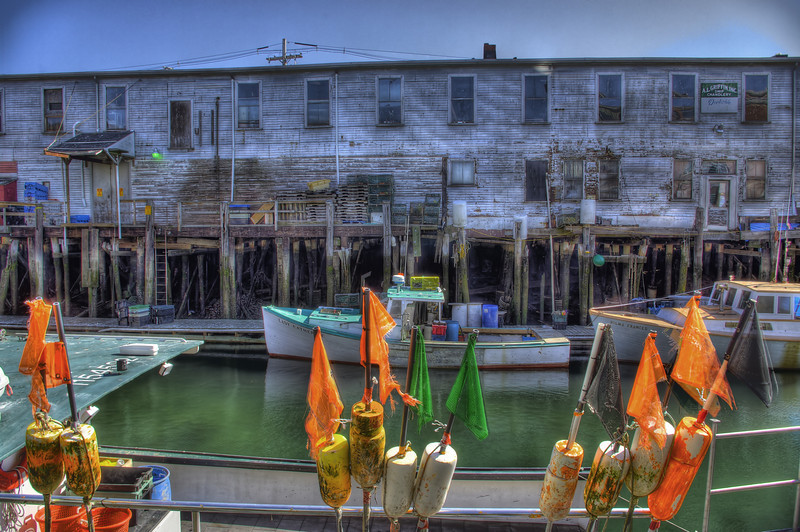 The back of the Harbor Fish Market from Portland pier.