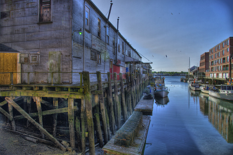 The back side of Custom House wharf.
