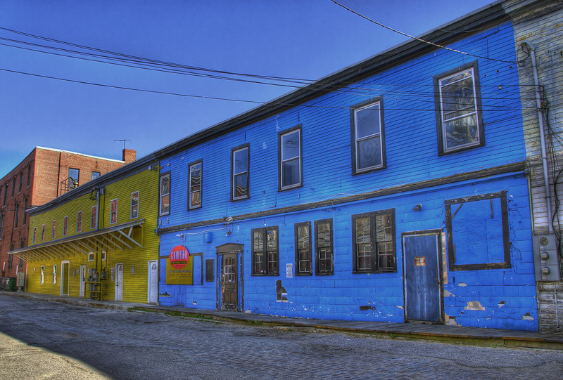 "The ""Comedy Connection"" right across from Harbor Fish Market on Custom House wharf Portland Maine. HDR"
