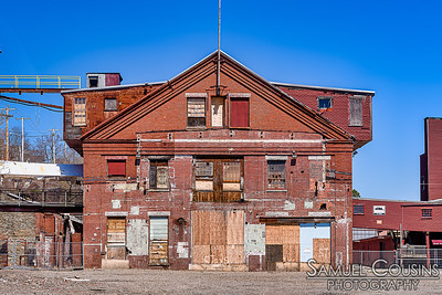The partially demolished portland company building
