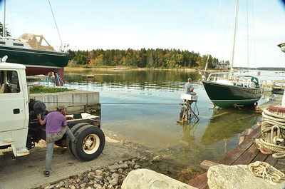 Hauling Spindrift at Brewer's, October 2013