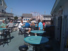 Lunch in Old Orchard Beach, with the OOB roller coaster in the background